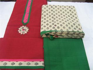 Dress materials fabric:180-200 GSM, 100% Cotton, 100% Silk, Dyed, Plain