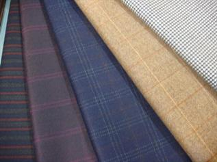 Wool Fabric:150 to 450 grams, 100% Wool, Dyed and Griege, Twill & Plain