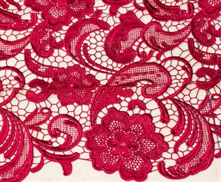 Lace Fabric:180 - 220 GSM (summer season), 300 gsm (for winter), 100%  Lace, Raw white & Dyed, Plain