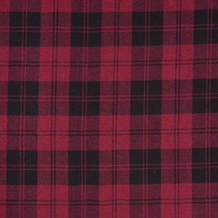 Flannel Fabric:180-225 gsm, 100% Plaid Check Cotton, Yarn dyed, Weft Knit