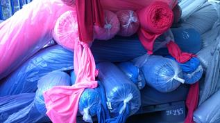 130-200 gsm, 95% Cotton / 5% Spandex, Dyed, Single jersey