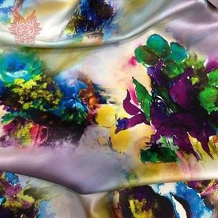 Digital Printed Fabric:260-280 gsm, 90% Cotton / 10% Lycra, Dyed, Plain