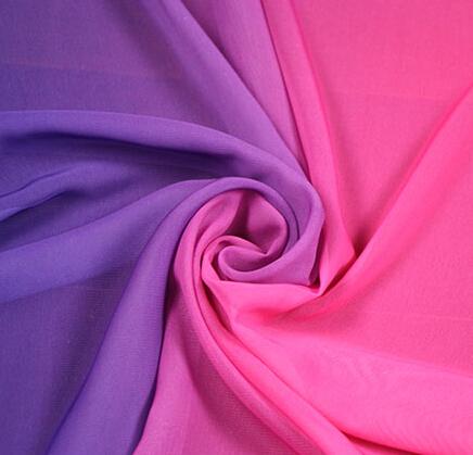dyed chiffon fabric