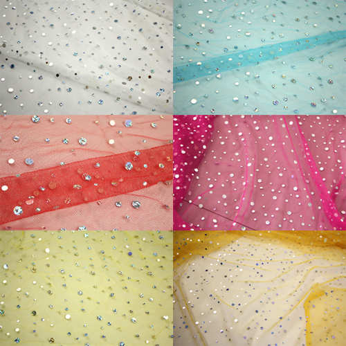 Dyed 100% Polyester Net Fabric