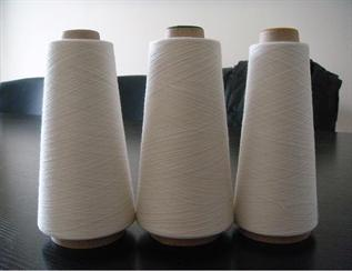 Polyester / Cotton Yarn:Greige, For knitting, 50% Polyester / 50% Cotton