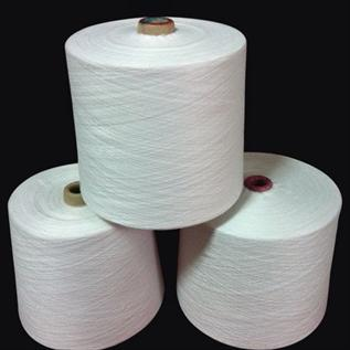Polyester / Cotton Yarn:Raw White, For Knitting, Weaving, 20/1, 30/1, 30/2, 65% Polyester / 35% Cotton