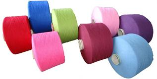 Polyester / Cotton Yarn:Greige, for knitting and weaving, 75% Polyester / 25% Cotton