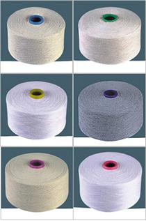 Polyester / Cotton Yarn:Greige, For Knitting, 65% Polyester / 35% Cotton