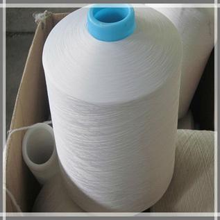 Polyester / Cotton Yarn:Recylced Dyed, Bleach White, For Weaving, 2/20, 16s, Polyester / Cotton (20/80)
