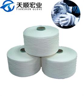 Polyester / Cotton Yarn:Greige, For gloves and carpet knitting, 7-10s, 35% Polyester / 65% Cotton
