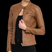 Ladies Cow Leather Jacket