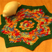 Rainbow Flower Shape Mat