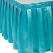 satin table skirt