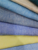 100% Linen Yarn Dyed Chambray Fabric