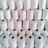 Polyester/Viscose spun yarn.
