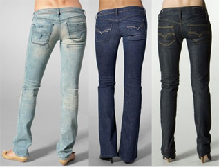 Jeans:96% Cotton / 4% spandex, S to XL