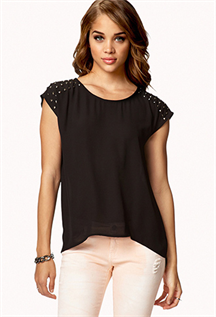 Tops:Cotton, Polyester / Cotton, Chiffon, Georgette, Polyester, XS-2XL