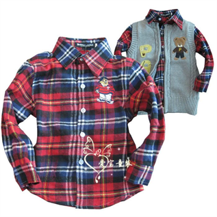 Shirt:Cotton, Polyester / Cotton, Age Group: 0-12 Yrs