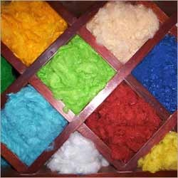 Polyester Staple Fibre (PSF):Greige & Dyed( Black, Red, Yellow, Orange ), Staple,  1.4 D , For spinning