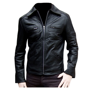 Leather Jackets:For Mens , Material : Buffalo Natural Leather Features : Abrasion Resistant