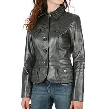 Leather Jackets:Women, Material - Goat Sheep Leather