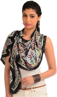 black printed scarves