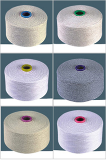 Polyester / Cotton Yarn:Greige & Dyed, For Weaving, 74/2, 60/2, 50/2, 65% Polyester / 35% Cotton