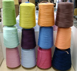 Polyester / Cotton Yarn:Greige, For stitching, 10/1-80/1, 2/2-9/2 Ne, 65% Polyester / 35% Cotton