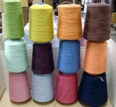 Polyester / Cotton Yarn:Dyed, For Making Fleece Cloth, Ne 40s, 60% Cotton / 40% Polyester