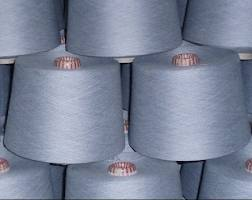 Polyester / Cotton Yarn:Greige, For knitting, 65/35%, 52/48%