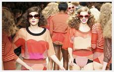 Models wearing designs by Sonia Rykiel