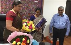 L-R: Smriti Irani, Vanathi Srinivasan and M Senthilkumar