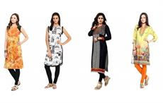 Models wearing Jaipuri kurtis. Courtesy: Nandani Creation