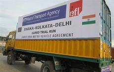 EFL's first BBIN cargo vehicle trial run from Bangladesh to India. Courtesy: EFL