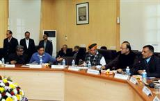 Finance minister Arun Jaitley chairing the Pre-Budget Consultative Meeting with the 'Economists' Group. Courtesy: PIB