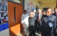 President Pranab Mukherjee touring ATDC Chhindwara. Courtesy: ATDC