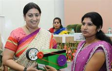 Union textiles minister Smriti Irani distributed the Buniyaad Reeling Machines to tussar silk reelers on the occasion of the International Women's Day 2017 in New Delhi. Courtesy: PIB