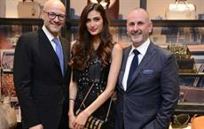 Left to right: Victor Luis, CEO Coach; Athiya Shetty; and Ian Bickley, Coach 1 at Coach store opening. Courtesy: Coach