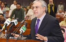 Pakistan's Finance Minister Mohammad Ishaq Dar presenting Budget 2017-18 in National Assembly in Islamabad on May 26. Courtesy: PID, Pakistan