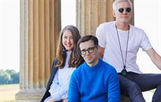 L-R H&M's creative advisor Ann-Sofie Johansson, Erdem Moralioglu and Baz Luhrmann. Courtesy: H&M
