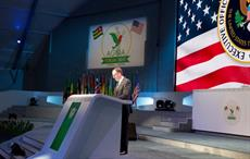 Robert Lighthizer speaking at the opening of the ministerial plenary of the 16th Forum of AGOA, in Lome. Courtesy: US Embassy in Togo