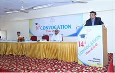 NITRA chairman Sanjay Kumar Jain speaking at the convocation; Courtesy: NITRA