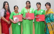 Winners of Outstanding Award for Exceptional Performance with Anusha Alles (extreme right) and Sakura Manthreerathne, P.A.C.E. specialist at Brandix; Courtesy: Brandix