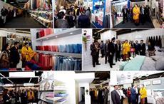 Textiles minister Smriti Irani visiting the India Pavilion at Heimtextil Frankfurt; Courtesy: Messe Frankfurt