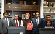 India's Ambassador to Nepal, Manjeev Singh Puri (3rd from left); Vikram Shivadas, Director, International Markets, ABFRL (2nd from left); and Rupesh Pandey, Director, RP Group (5th from left).