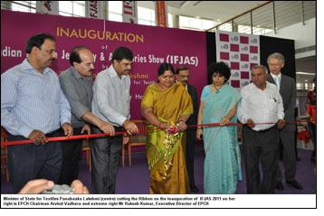 Smt. Panabaaka Lakshmi opens IFJAS; appreciates EPCH efforts
