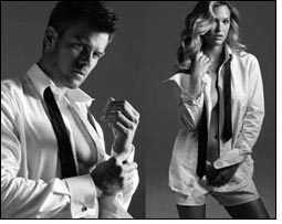 Josh Duhamel + Bar Refaeli pose for Arrow shirt ads