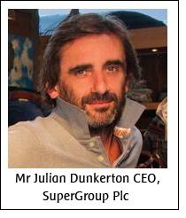 Mr Julian Dunkerton CEO, SuperGroup Plc