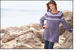 Plus-size sweater collection from Roaman's