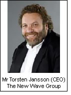 Mr Torsten Jansson, CEO of The New Wave Group
